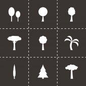 Vector trees icon set — Stock Vector