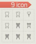 Vector teech icon set — Stock Vector