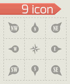 Vector wild rose icon set — Wektor stockowy