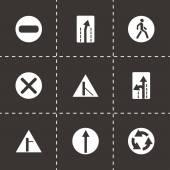 Vector road element icon set — Cтоковый вектор