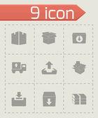 Vector archive icon set — Stock Vector