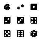 Vector dice icon set — Vector de stock