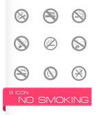 Vector no smoking icon set — Stock Vector