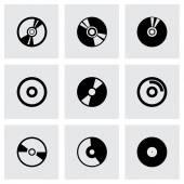 Vector cd icon set — 图库矢量图片