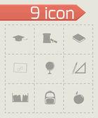 Vector study icon set — 图库矢量图片