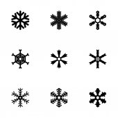 Vector snowflake icon set — 图库矢量图片