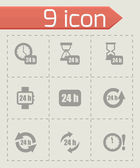 Vector 24 hours icon set — Stock Vector