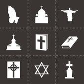 Vector religion icons set — Stock Vector