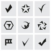 Vector confirm icons set — Stock Vector