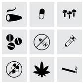 Вектор наркотиков иконы set — Cтоковый вектор