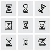Vector hourglass icons set — Stock Vector