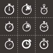 Vector stopwatch icon set — Stock Vector