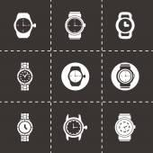 Vector wristwatch icon set — 图库矢量图片