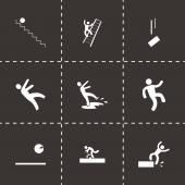Vector fall icon set — 图库矢量图片