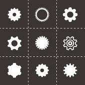 Vector gear icon set — 图库矢量图片