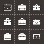 Vector briefcase icon set — 图库矢量图片