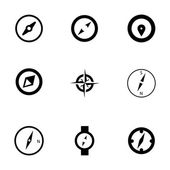Vector compass icons set — Stock Vector