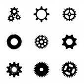 Vector gear  icons set — 图库矢量图片