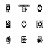 Vector Wristwatch icon set — Stock Vector