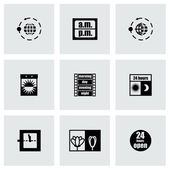 Vector 24 hours icon set — Stockvector