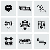 Vector Thought icon set — Stock Vector