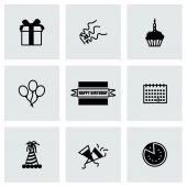 Vector Birthaday icon set — Stock Vector