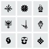 Vector Clock icon set — Stock Vector