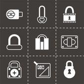 Set di icone vettoriali serratura — Vector de stock
