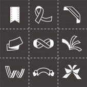 Vector Ribbon icon set — Stock Vector
