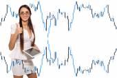 Modern business woman — Stock Photo