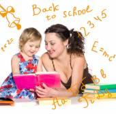 Nauczyciel z małej dziewczynki — Zdjęcie stockowe
