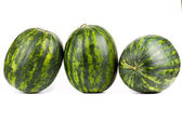 Watermelons. Group of sweet watermelon isolated on white. — Stock Photo