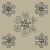 Circles on brown — Stock Vector