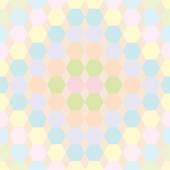The pattern of hexagons — Stock Vector