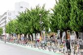 парковка для велосипедов — Стоковое фото