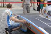 Solar powered car Antwerp — Stock Photo