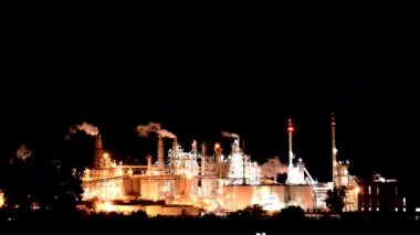 Chemical plant — Stock Video