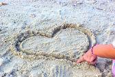 романтическая любовь на море — Стоковое фото