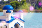 Santorini kyrka — Stockfoto