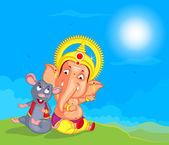 Lord ganesha mutlu ganesh chaturthi için vektör — Stok Vektör
