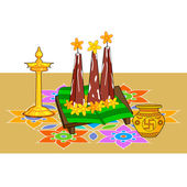 Poorada Uttigal for Onam decoration — Stock Vector