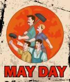 Happy May Day celebration — Stock Vector