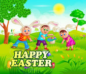 Happy Easter holiday celebration — Stock Vector
