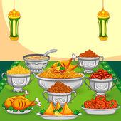 Ramadan Iftar food — Stock Vector