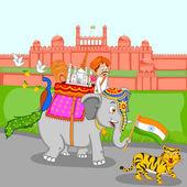 Sfondo di India — Vettoriale Stock