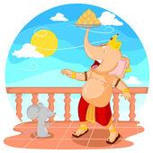 Mutlu Ganesh Chaturthi — Stok Vektör