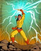 Retro style comics Superhero — Stock Vector