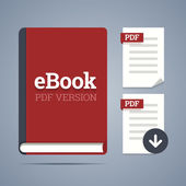 Electronic book template with documents icons. — Stockvector