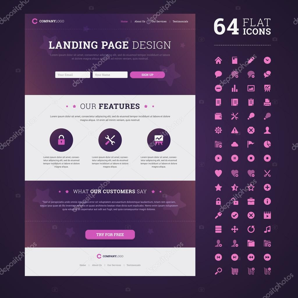 Landing Page One Page Design Landing Page