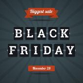 Black friday sale illustration. — Stock Vector
